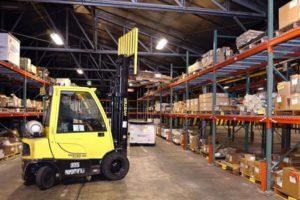 forklift truck test drive
