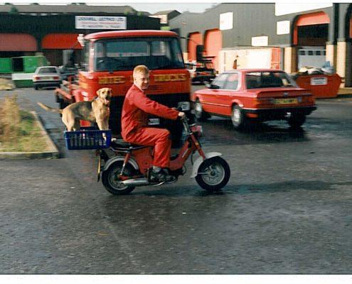Basil, Andy & Motor Bike