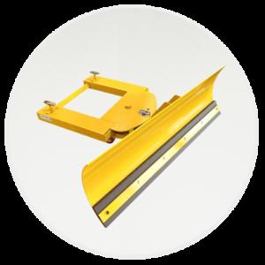 Adjustable Blade Forklift Snow Plough